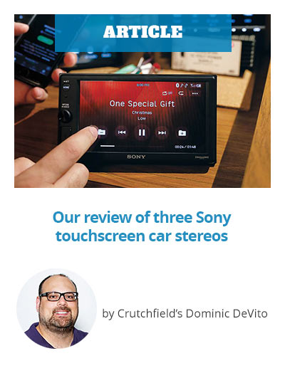 Article: Our review of three Sony touchscreen car stereos