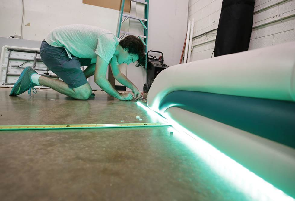 Installing Wet Sounds SPOOL 5M-RGB LED lights in the install bay