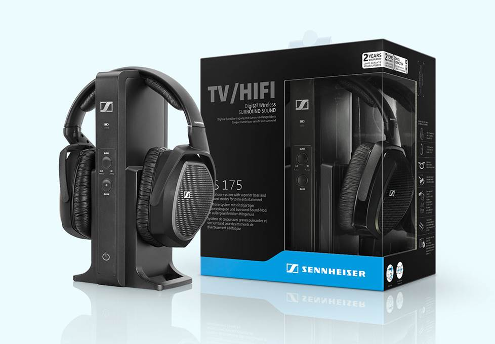 Sennheiser TV headphones with packaging
