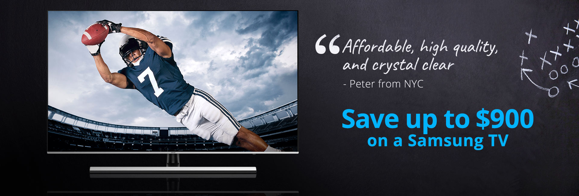 Save up to $900 on a Samsung TV