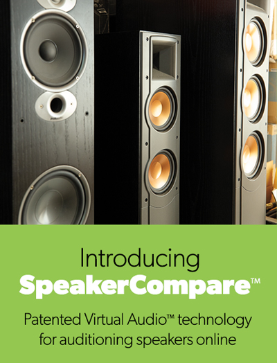 Speaker Compare: Patented Virtual Audio™ technology for auditioning speakers online