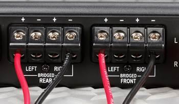 How to bridge a car amplifier