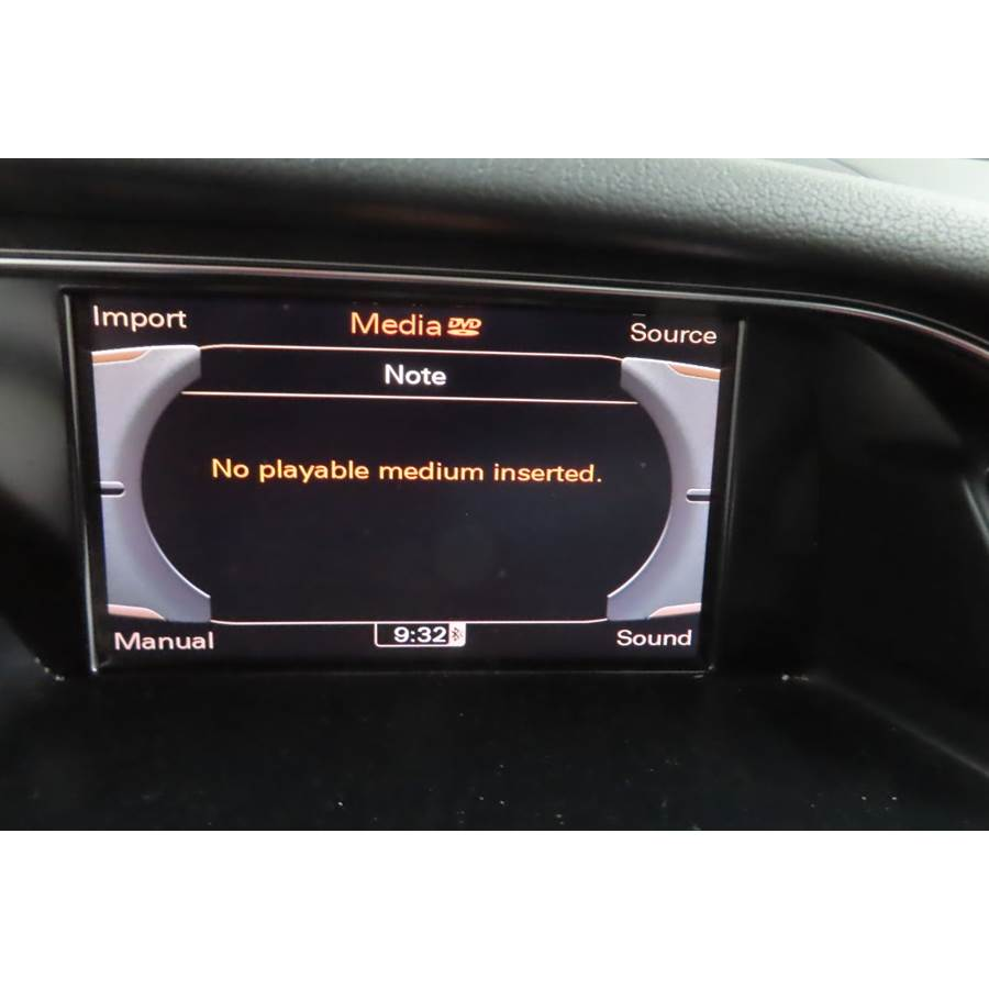 2013 Audi A5 Navigation screen