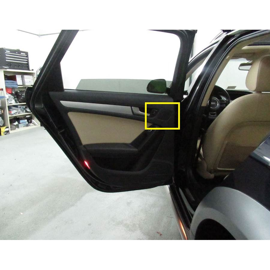 2015 Audi Allroad Rear door tweeter location