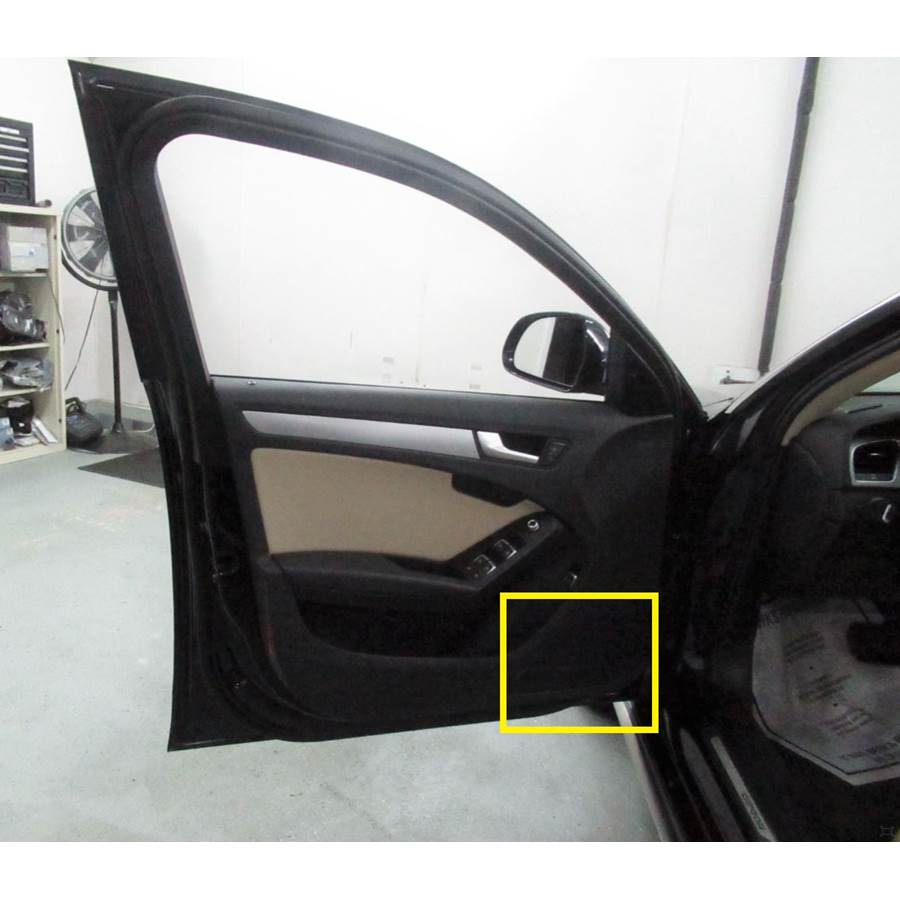 2015 Audi Allroad Front door speaker location