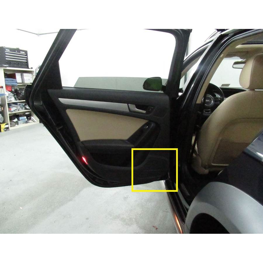 2015 Audi Allroad Rear door woofer location
