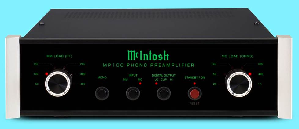 McIntosh MP100 Phono preamplifier for moving magnet and moving coil cartridges with USB output