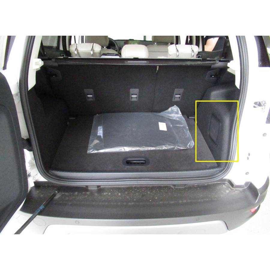 2019 Ford EcoSport Far-rear side speaker location