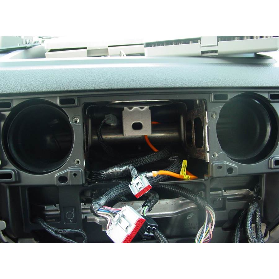 2012 Ford F-650 Factory radio removed