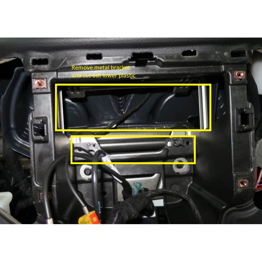 2014 Jeep Cherokee You'll have to modify your vehicle's sub-dash to install a new car stereo.