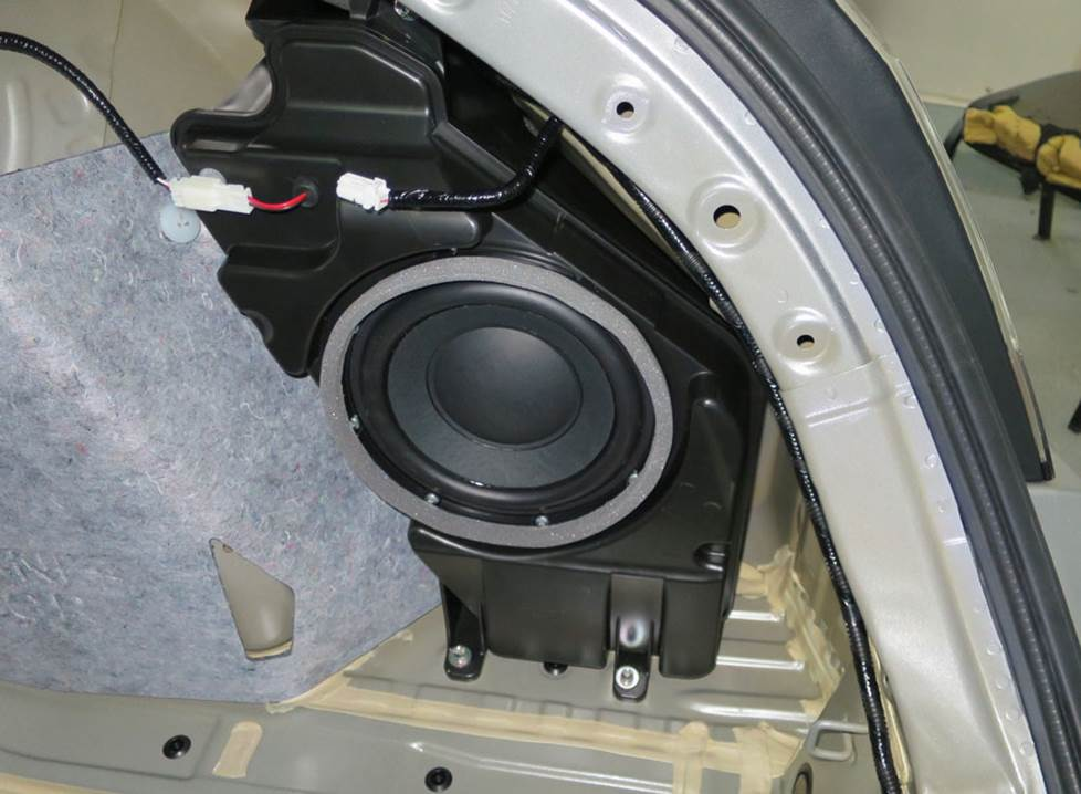 honda civic hatch rear subwoofer
