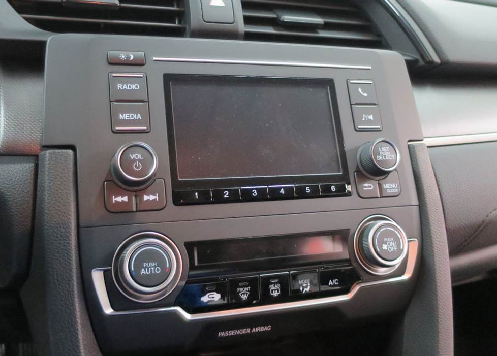 "honda civic factory 5"" LCD radio"