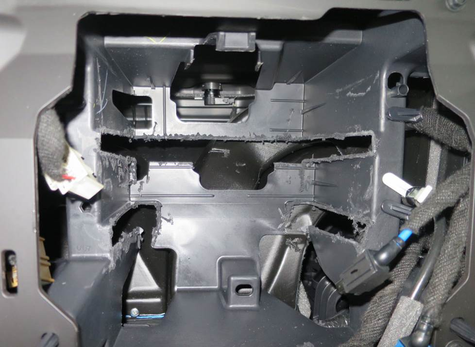 chevy silverado radio cavity modification
