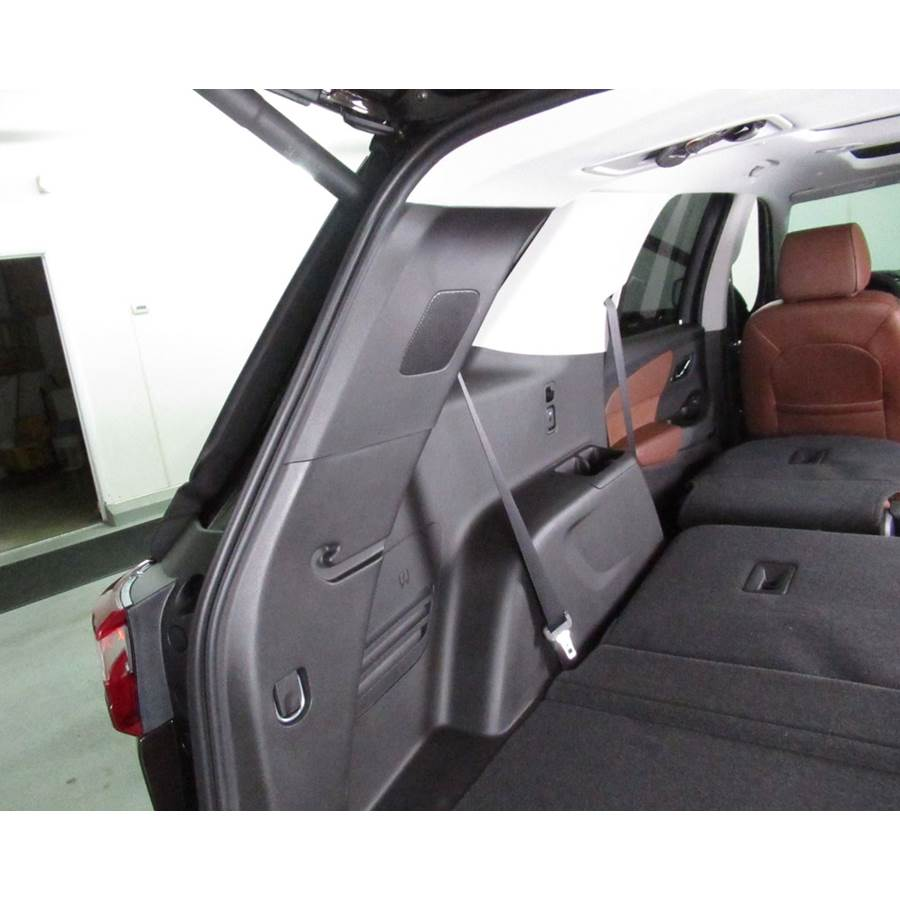 2018 Chevrolet Traverse Rear pillar speaker location