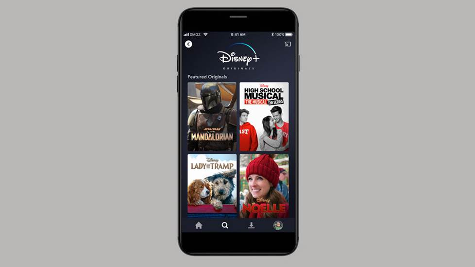 Disney+ on a mobile smartphone screen.