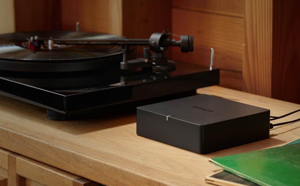 Turntable and Sonos Port stereo system