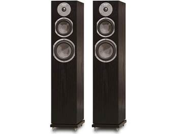 on a pair of KLH floor-standing speakers