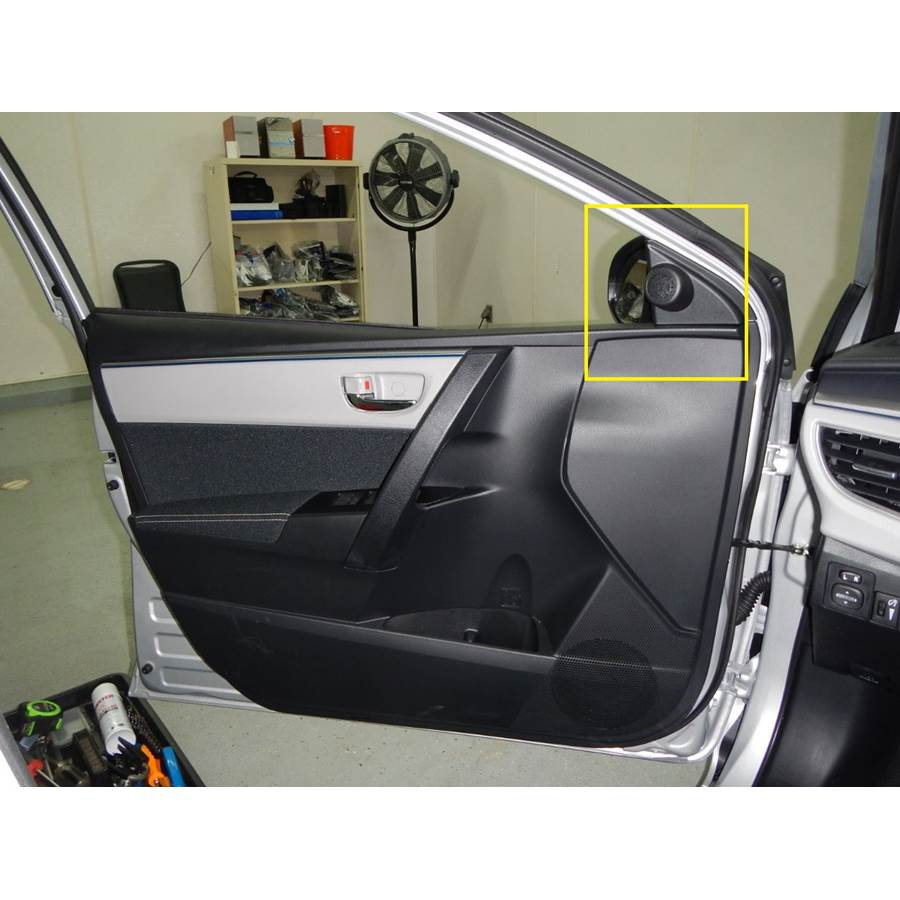 2018 Toyota Corolla Front door tweeter location