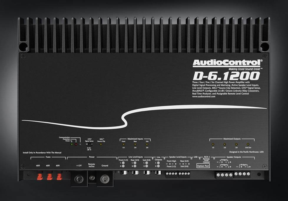 AudioControl D-6.1200 125W x 6 DSP Car Amplifier