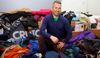 A Crutchfield employee's annual coat drive