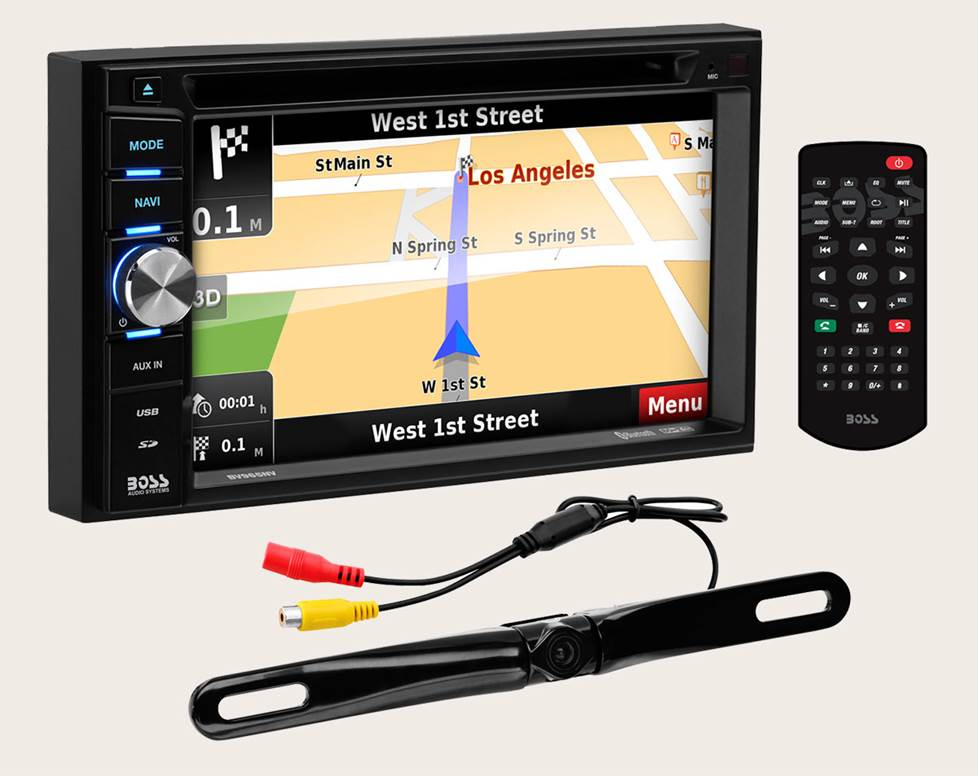 Boss BN965BLC navigation receiver with backup camera