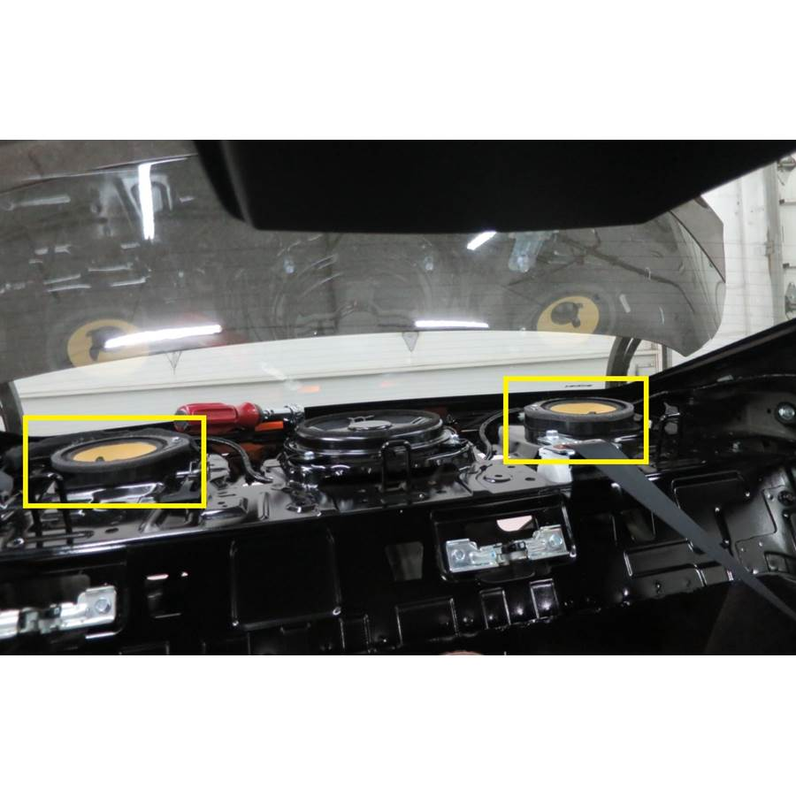 2016 Honda Civic EX-L Rear deck speaker location