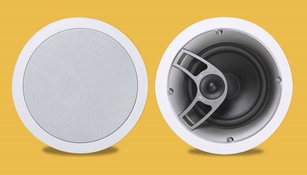 Polk MC-60 in-ceiling speakers.