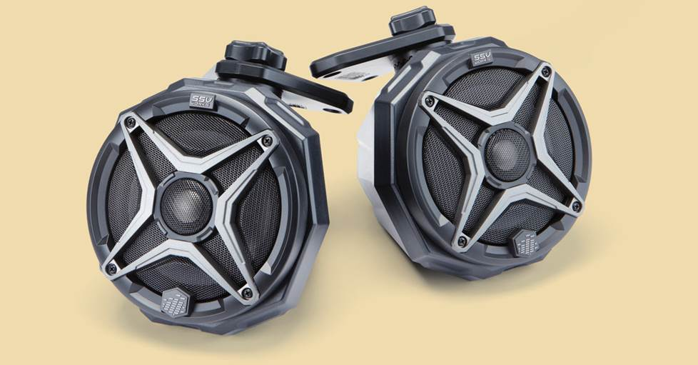 SSV Works JJL-CS65A Custom swiveling cage speaker pods for Jeep Wrangler Unlimited JL