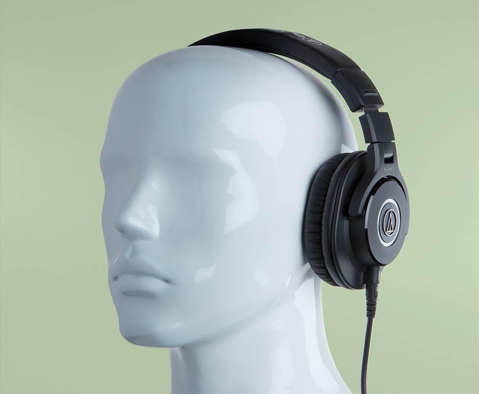 studio headphones on mannequin