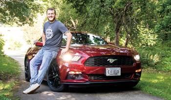 A 2016 Mustang gets loud