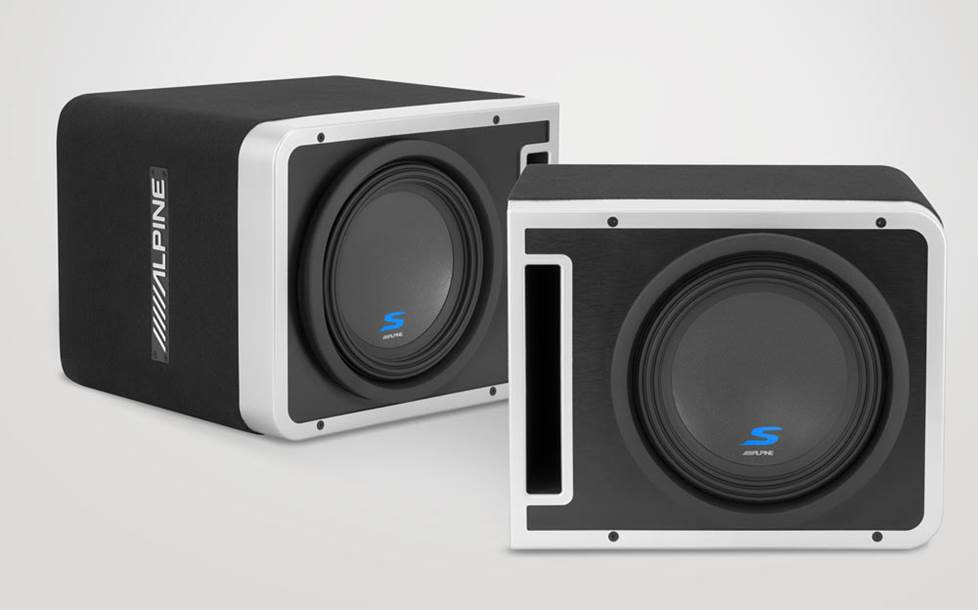 Alpine Halo S-SB10V loaded sub enclosures