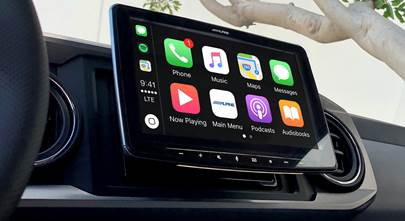 Car stereos go extra large!