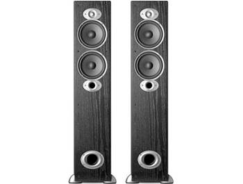 on a pair of Polk RTi A5 floor-standing speakers