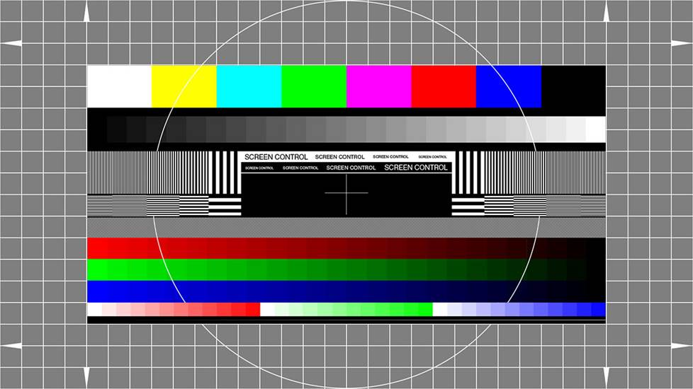 A TV test pattern