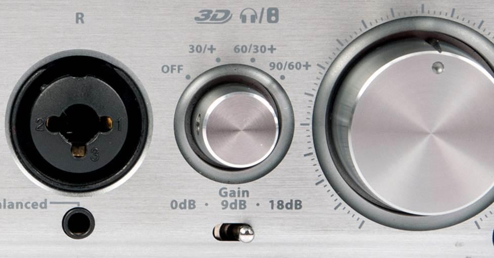 Gain control on the Ifi Audio iCan
