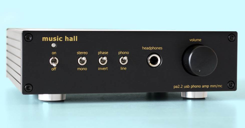 Music Hall PA2.2 Phono preamplifier with USB output and headphone amp