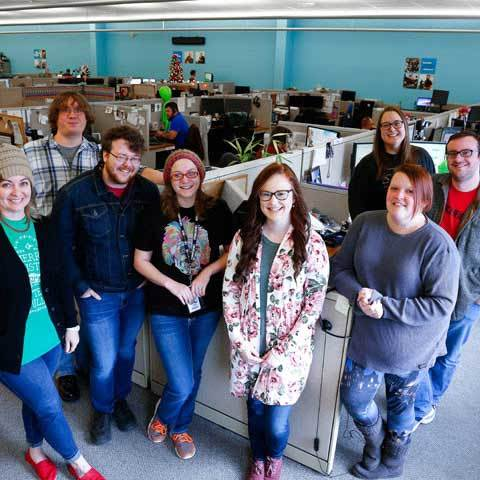 Just some of the friendly faces at our Virginia-based call centers.
