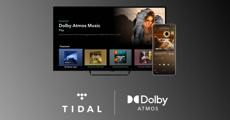 Screen from TIDAL Dolby Atmos playlist