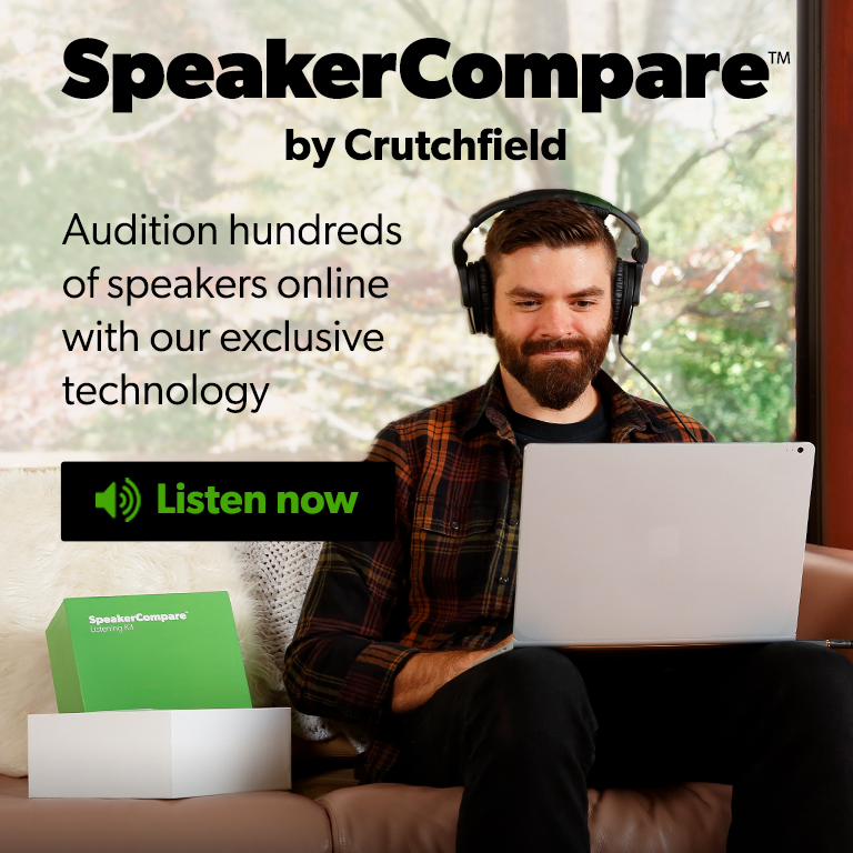 Audition hundreds of speakers online with our exclusive technology, Speaker Compare.