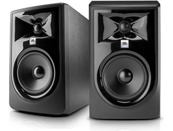 on a pair of JBL 305P MkII 2-way powered studio monitors