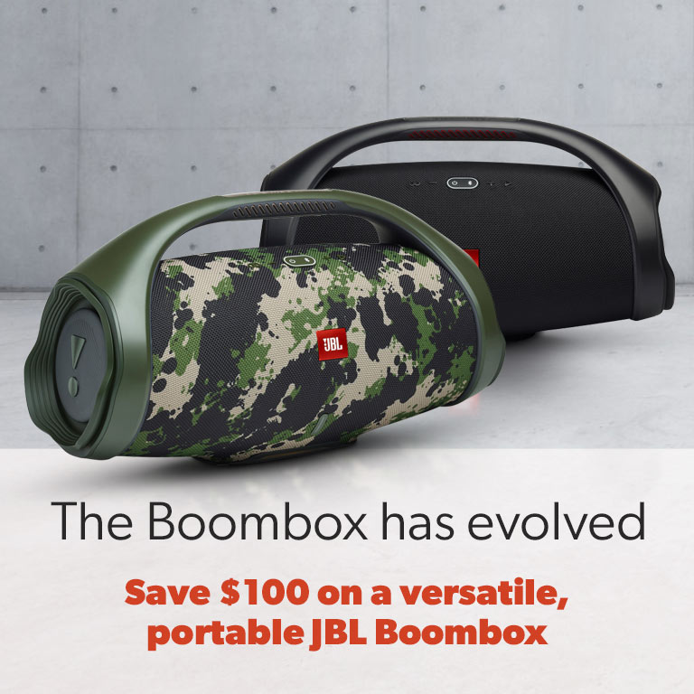 Save $100 on a versatile, portable JBL Boombox.