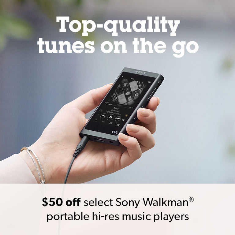 $50 off select Sony Walkman portable hi-res music players.