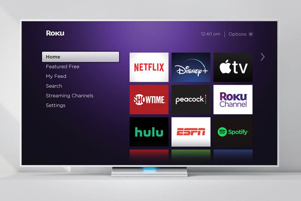 Roku tv interface screen.