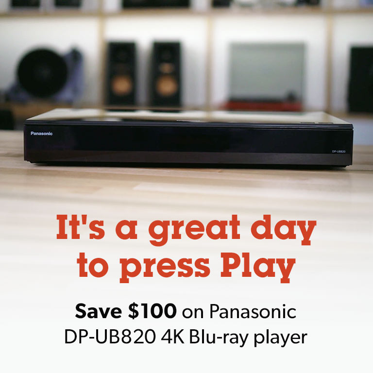 Get $100 off a Panasonic Blu-ray player.