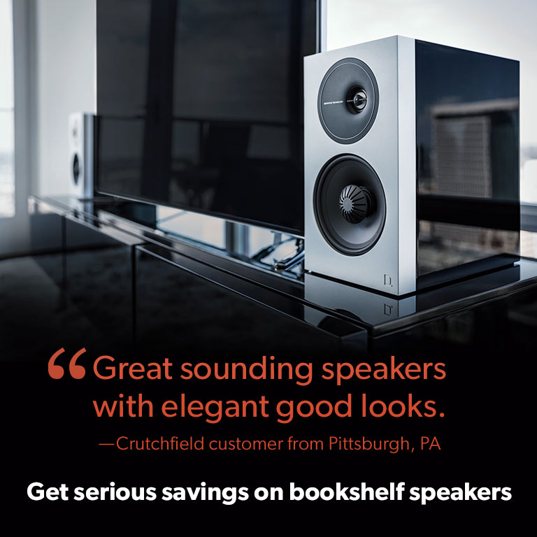 Get serious savings on bookshelf speakers.
