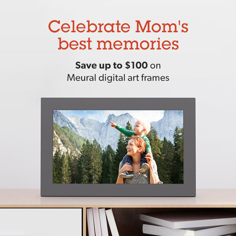 Save up to $100 on Meural digital art frames.