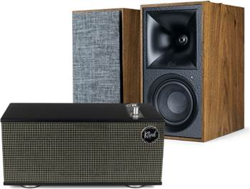 on select Klipsch powered speakers