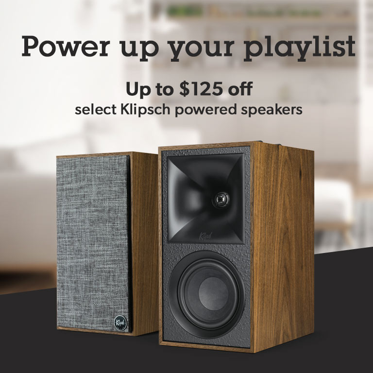 Save up to $125 on select Klipsch powered speakers