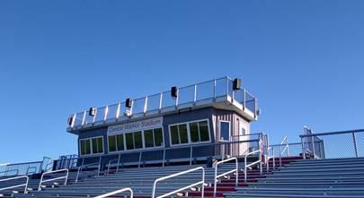 A custom sound system for a high school football stadium