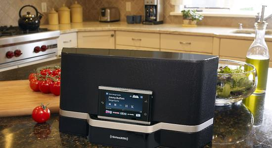 What are satellite radio boomboxes and compact sound systems?